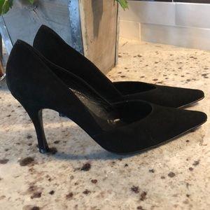 Botticelli black suede point toe heels size 6.5